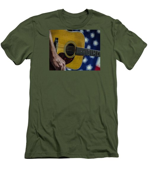 Martin Guitar 1 Men's T-Shirt (Slim Fit) by Jim Mathis