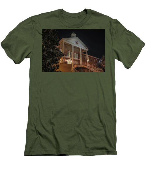 Men's T-Shirt (Slim Fit) featuring the photograph Martin Hall Night 01 by Gregory Daley  PPSA