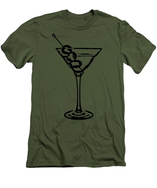 Martini Glass Tee Men's T-Shirt (Athletic Fit)