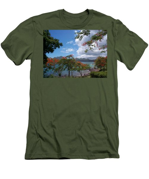 Men's T-Shirt (Slim Fit) featuring the photograph Martinique by Mary-Lee Sanders