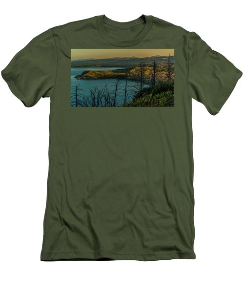 Mary Bay At Dawn Men's T-Shirt (Slim Fit) by Yeates Photography
