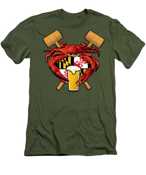 Maryland Crab Feast Crest Men's T-Shirt (Athletic Fit)