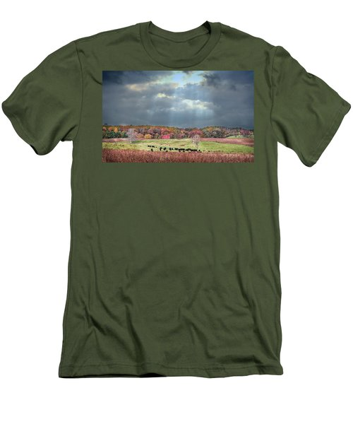 Maryland Farm With Autumn Colors And Approaching Storm Men's T-Shirt (Athletic Fit)