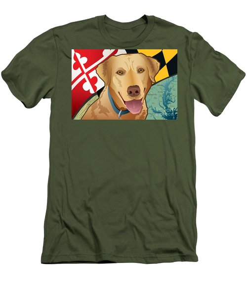 Maryland Yellow Lab Men's T-Shirt (Athletic Fit)