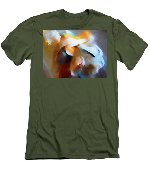 Men's T-Shirt (Athletic Fit) featuring the mixed media Masking Tape And Paint Composition by Lynda Lehmann