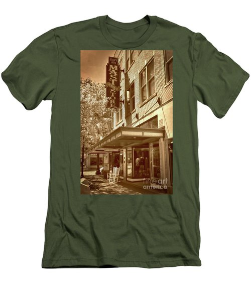 Men's T-Shirt (Slim Fit) featuring the photograph Mast General Store by Skip Willits