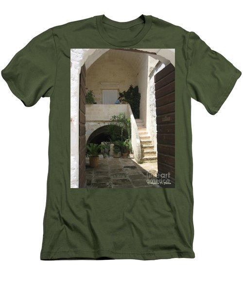 Matera, Italian Courtyard Men's T-Shirt (Athletic Fit)