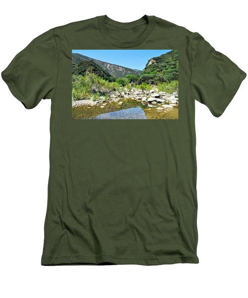 Men's T-Shirt (Slim Fit) featuring the photograph Matilija Hot Springs by Kyle Hanson