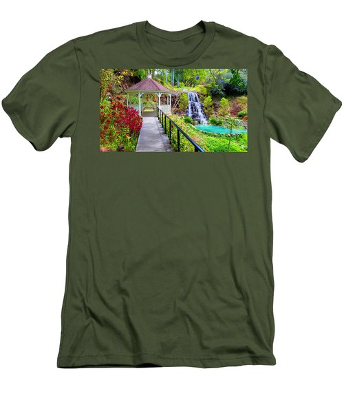 Maui Botanical Garden Men's T-Shirt (Slim Fit) by Michael Rucker