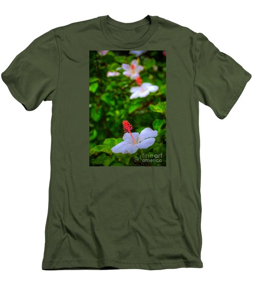 Men's T-Shirt (Slim Fit) featuring the photograph Maui Hibiscus by Kelly Wade
