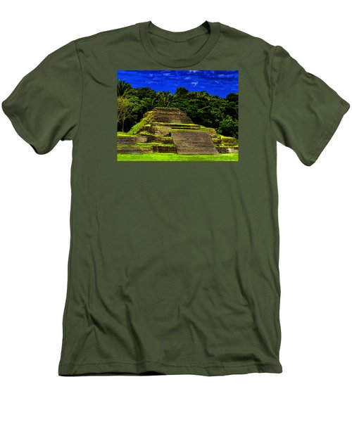 Mayan Temple Men's T-Shirt (Slim Fit) by Ken Frischkorn