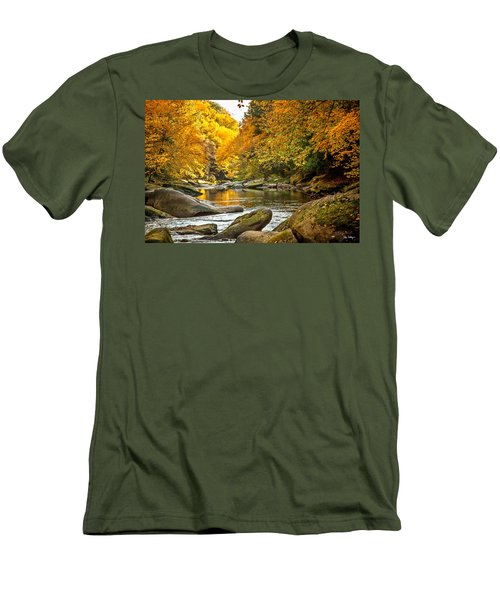 Men's T-Shirt (Slim Fit) featuring the photograph Mcconnell's Mill State Park by Skip Tribby