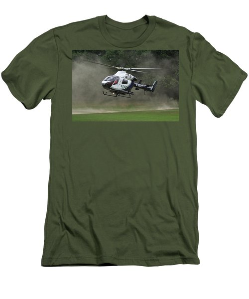 Men's T-Shirt (Slim Fit) featuring the photograph Mcdonnell Douglas Md-902 Explorer  by Tim Beach