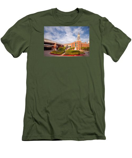 Mclane Student Life Center And Sciences Building - Baylor University - Waco Texas Men's T-Shirt (Athletic Fit)