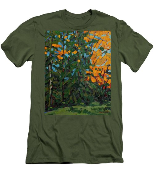 Mcmichael Forest Wall Men's T-Shirt (Slim Fit) by Phil Chadwick