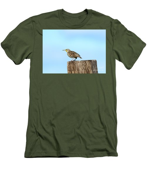 Meadowlark Roost Men's T-Shirt (Slim Fit) by Mike Dawson