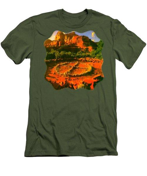 Medicine Wheel Men's T-Shirt (Slim Fit) by Raven SiJohn