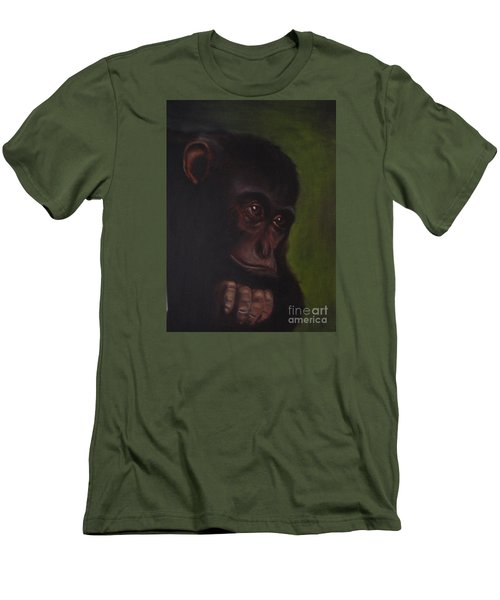 Men's T-Shirt (Slim Fit) featuring the painting Meditation by Annemeet Hasidi- van der Leij