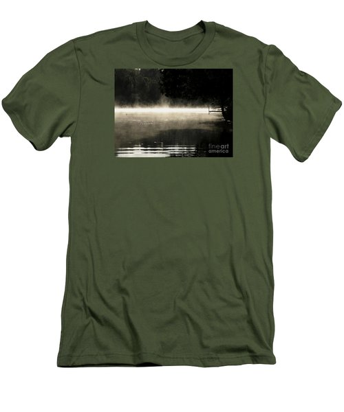 Men's T-Shirt (Slim Fit) featuring the photograph Meditation Morning by France Laliberte