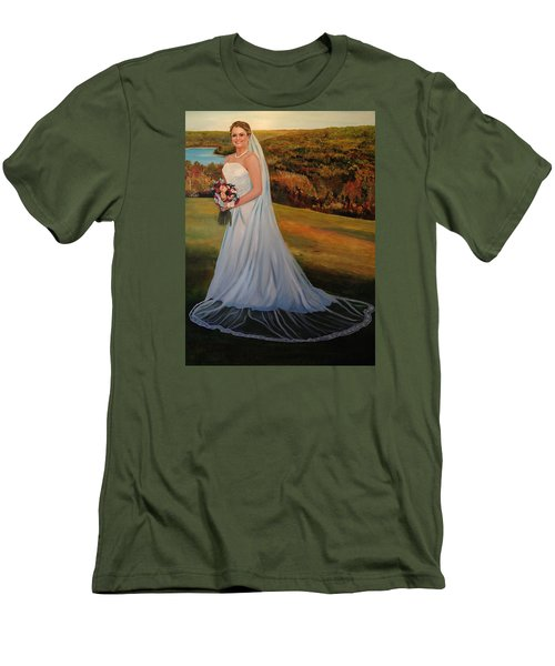 Men's T-Shirt (Slim Fit) featuring the painting Melissa by Alan Lakin
