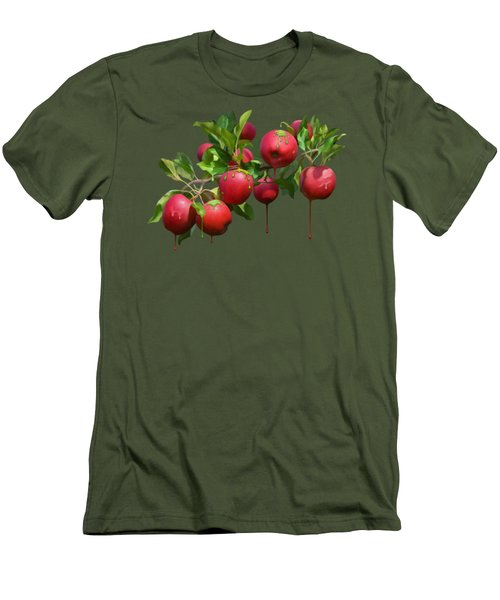 Melting Apples Men's T-Shirt (Slim Fit) by Ivana Westin