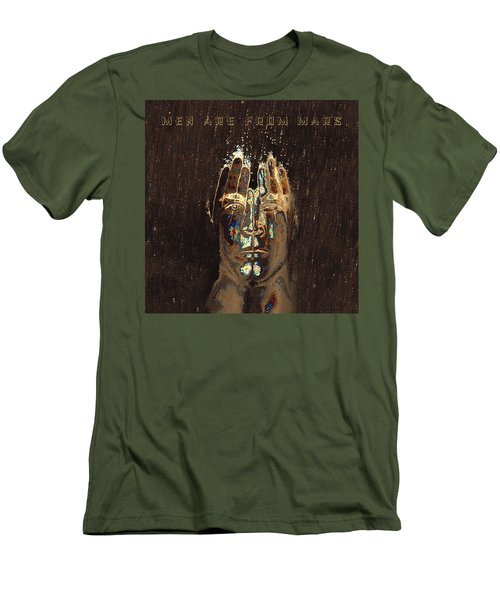 Men Are From Mars Gold Men's T-Shirt (Athletic Fit)