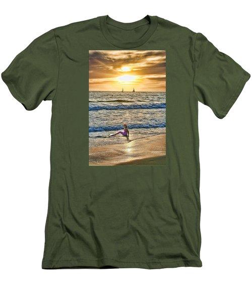 Mermaid Of Venice Men's T-Shirt (Slim Fit) by Michael Cleere