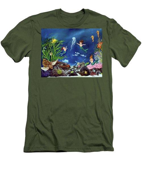 Mermaid Recess Men's T-Shirt (Slim Fit) by Carol Sweetwood