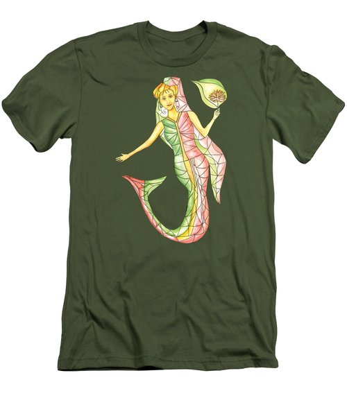 Mermaid Stories A Men's T-Shirt (Slim Fit) by Thecla Correya