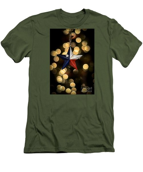 Men's T-Shirt (Slim Fit) featuring the photograph Merry Christmas Texas by Kelly Wade
