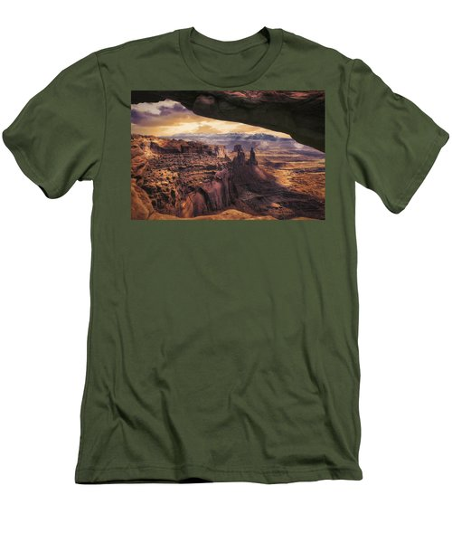 Mesa Arch Men's T-Shirt (Slim Fit) by James Bethanis