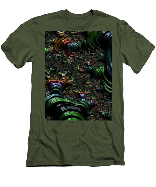Metallic Roots Men's T-Shirt (Slim Fit) by Rajiv Chopra