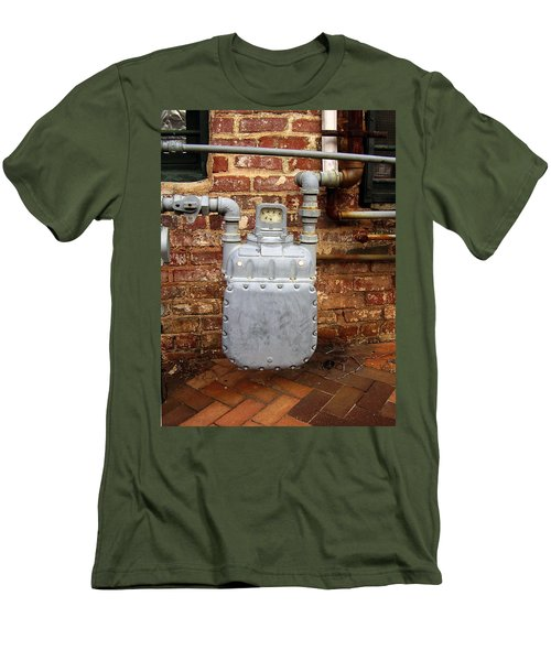 Meter II In Athens Ga Men's T-Shirt (Slim Fit) by Flavia Westerwelle