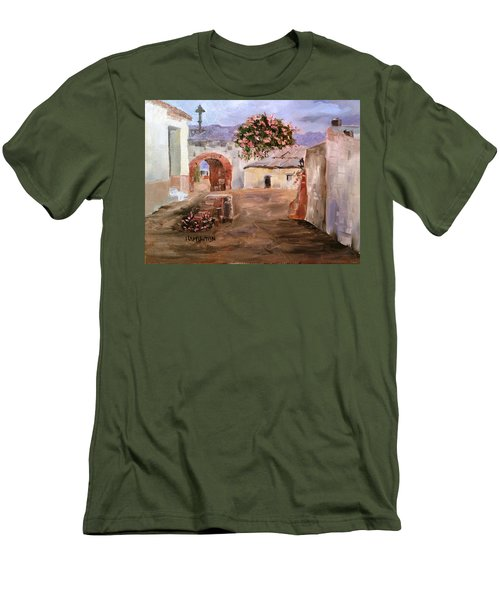 Mexican Street Scene Men's T-Shirt (Slim Fit) by Larry Hamilton