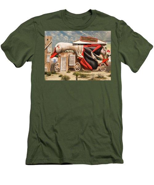Men's T-Shirt (Slim Fit) featuring the digital art Miami Graffiti by Jeff Burgess