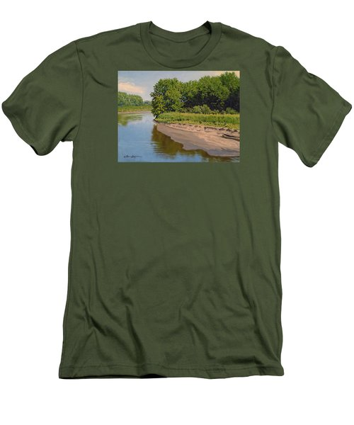 Mid Summer Prairie Stream Men's T-Shirt (Slim Fit) by Bruce Morrison