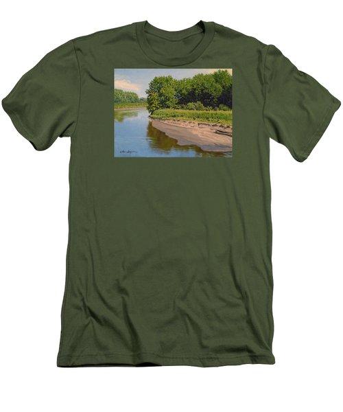 Mid Summer Prairie Stream Men's T-Shirt (Athletic Fit)