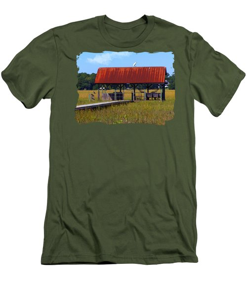 Men's T-Shirt (Slim Fit) featuring the photograph Midday Island Creek View by Deborah Smith