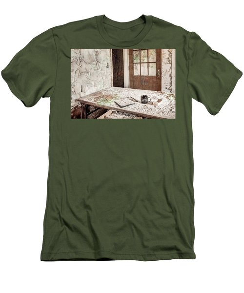 Men's T-Shirt (Slim Fit) featuring the photograph Midlife Crisis In Progress - Abandoned Asylum by Gary Heller