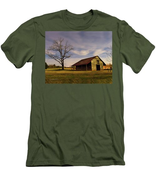 Men's T-Shirt (Slim Fit) featuring the photograph Midnight At The Mule Barn by George Randy Bass