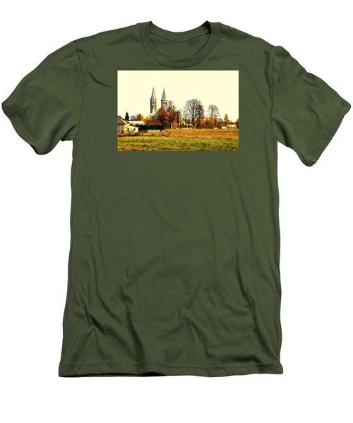 Miedzierza Church Men's T-Shirt (Slim Fit) by Henryk Gorecki