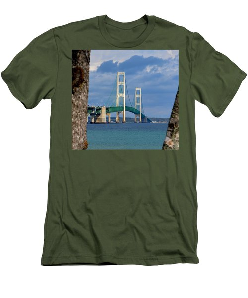 Mighty Mac Framed By Trees Men's T-Shirt (Slim Fit) by Keith Stokes