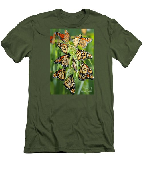 Migration Of Monarchs Men's T-Shirt (Athletic Fit)