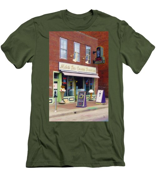 Mike's Ice Cream Fountain Men's T-Shirt (Slim Fit) by Sandy MacGowan