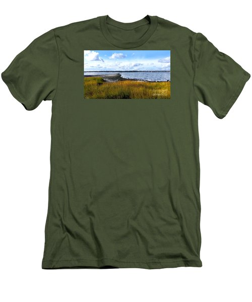Men's T-Shirt (Slim Fit) featuring the photograph Milford Island by Raymond Earley