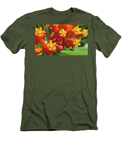 Milkweed Flowers Men's T-Shirt (Slim Fit) by Melinda Saminski