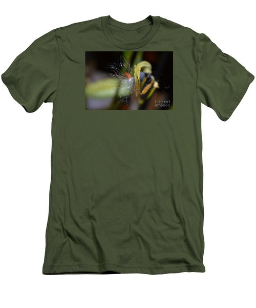 Men's T-Shirt (Slim Fit) featuring the photograph Milkweed Seed by Lew Davis