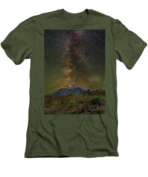Milky Way Over Mount St Helens Men's T-Shirt (Athletic Fit)