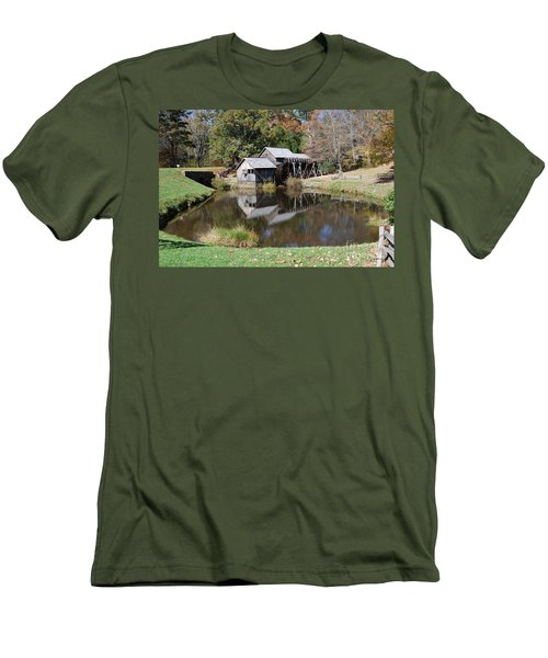 Men's T-Shirt (Slim Fit) featuring the photograph Mill Reflections by Eric Liller
