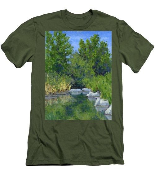 Millrace Pond Men's T-Shirt (Athletic Fit)